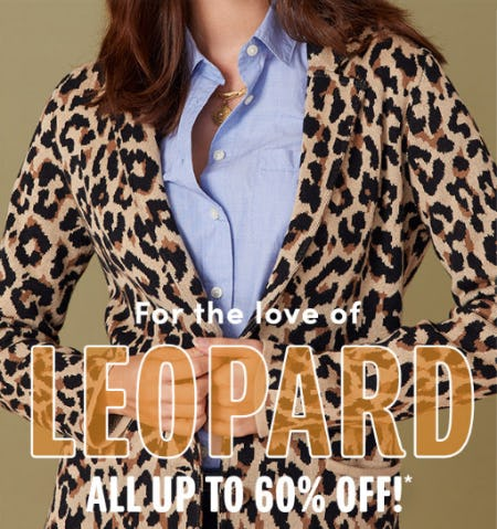 Up to 60% Off on our Leopard Print from J.Crew Factory