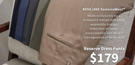 Reserve Dress Pants $179 from Jos. A. Bank
