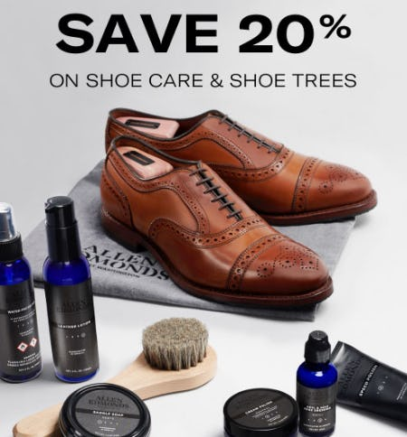 20% Off Shoe Care & Shoe Trees from Allen Edmonds
