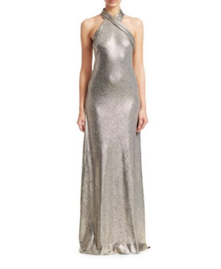 Galvan Pandora Halterneck Gown
