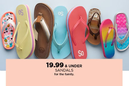 $19.99 & Under Sandals from Kohl's