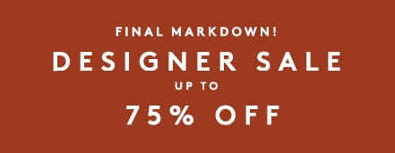 Designer Sale: Up to 75% Off from Barneys New York