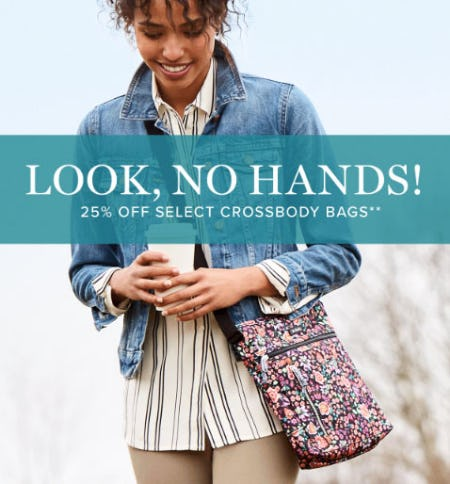 25% Off Select Crossbody Bags from Vera Bradley