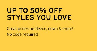 Up to 50% Off Styles You Love