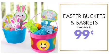 Easter Buckets & Baskets Starting at 99¢ from Party City