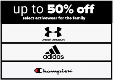 Up to 50% Off Select Activewear for the Family