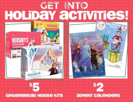 $5 Gingerbread House Kits & $2 Advent Calendars from Five Below