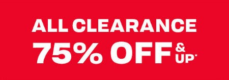 All Clearance 75% Off & Up