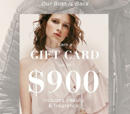 Up to $900 Gift Card