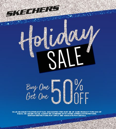 Skechers 50% Off Your Second Pair!