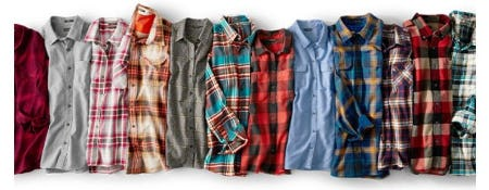 All the Flannel from Eddie Bauer