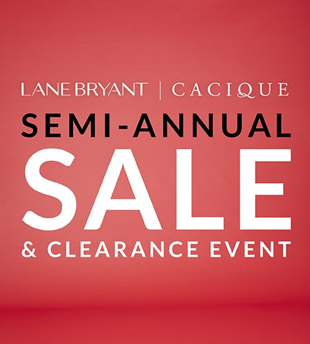 SEMI-ANNUAL SALE & CLEARANCE EVENT from Lane Bryant
