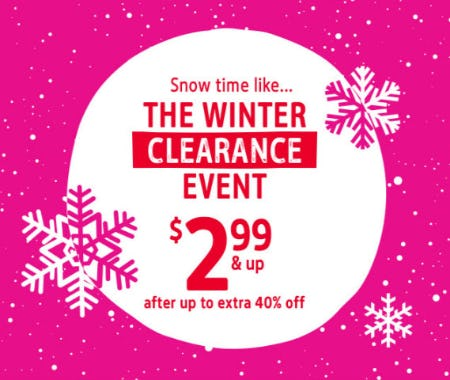 The Winter Clearance Event $2.99 & Up from Oshkosh B'gosh