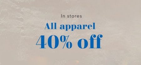 40% Off All Apparel from Aerie