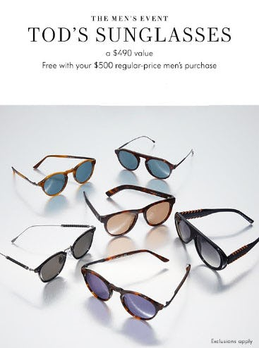Free Men's Sunglasses with Purchase from Neiman Marcus