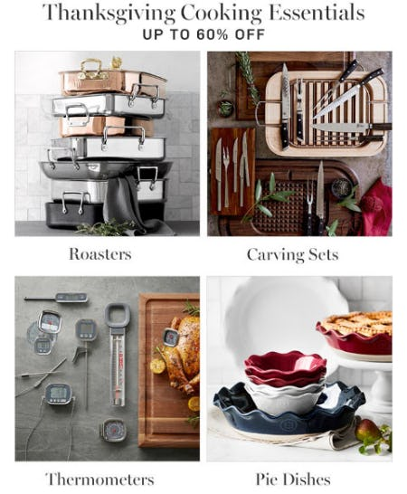Up to 60% Off Thanksgiving Cooking Essentials from Williams-Sonoma