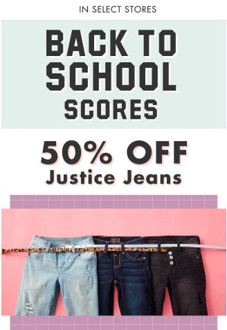 50% Off Justice Jeans from Justice