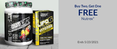 B2G1 Free Nutrex from The Vitamin Shoppe