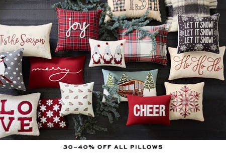 30-40% Off All Pillows from Pottery Barn
