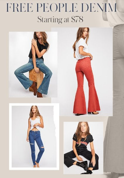 Free People Denim Starting at $78 from Free People