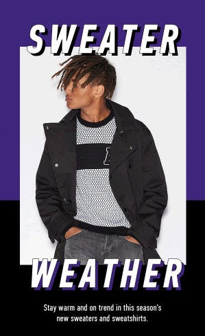 Sweater Weather Has Officially Arrived from A|X Armani Exchange