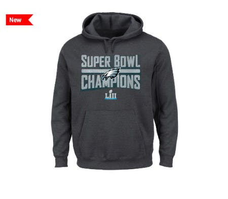 Philadelphia Eagles NFL Men's Super Bowl LII Champ Sudden Impact Hoodie from Lids