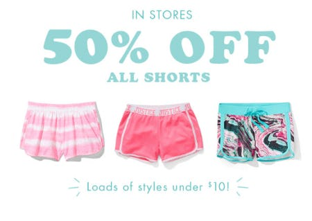 50% Off All Shorts