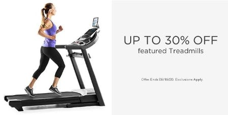 Up to 30% Off Featured Treadmills
