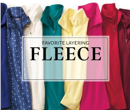 Shop Our Layering Fleece