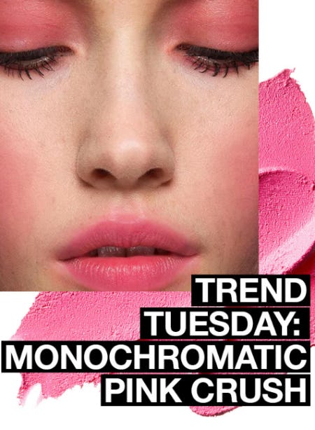 Trend Tuesday: Monochromatic Pink Crush from MAC