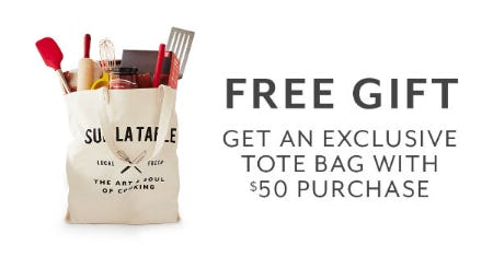 Free Gift with $50 Purchase from Sur La Table