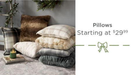 Pillows Starting at $29.99 from Kirkland's Home