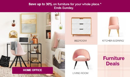 Up to 30% Off Furniture Deals