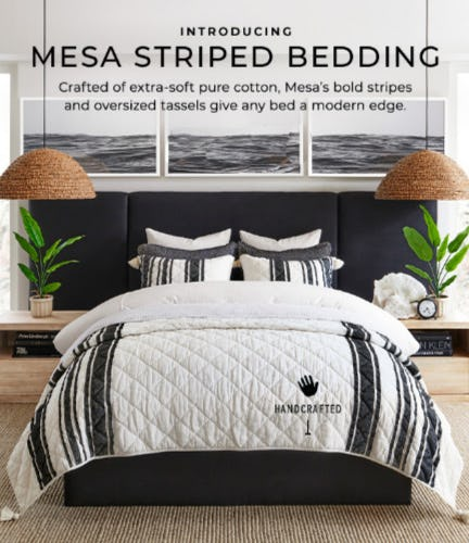Introducing Mesa Striped Bedding from Pottery Barn