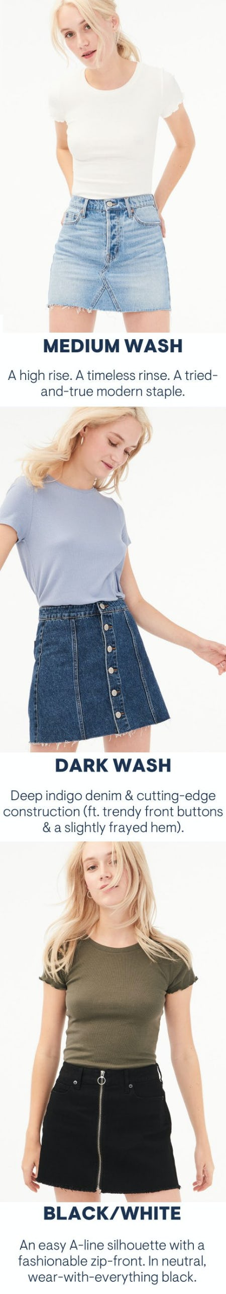 Meet Our New: Real Denim Skirts