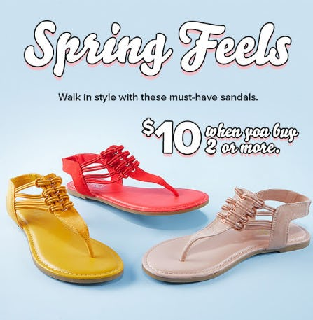 $10 Sandals When You Buy 2 or More from Rainbow