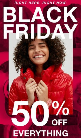 Black Friday: 50% Off Everything from Gap