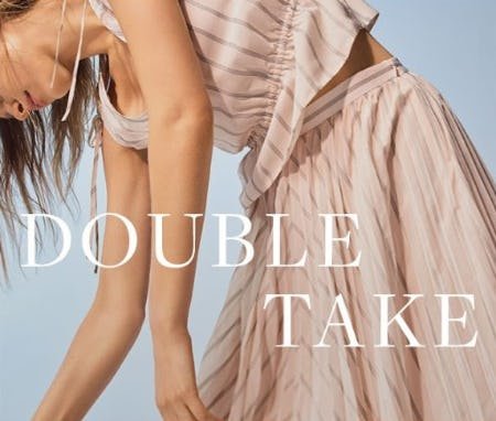 Trending Now: Double Take from Banana Republic