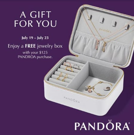 Free Jewelry Box With Your $125 Pandora Purchase from PANDORA