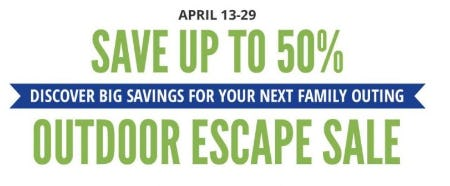 Outdoor Escape Sale up to 50% Off