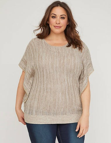 Goldspun Butterfly Sleeve Sweater from Catherines Plus Sizes