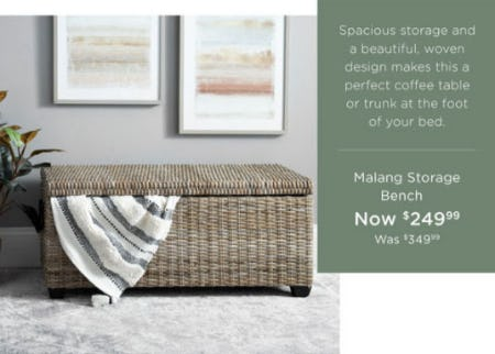 Malang Storage Bench Now $249.99 from Kirkland's