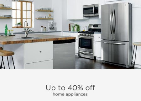 Up to 40% Off Home Appliances from Sears