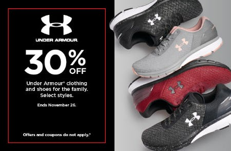 30% Off Under Armour from Kohl's
