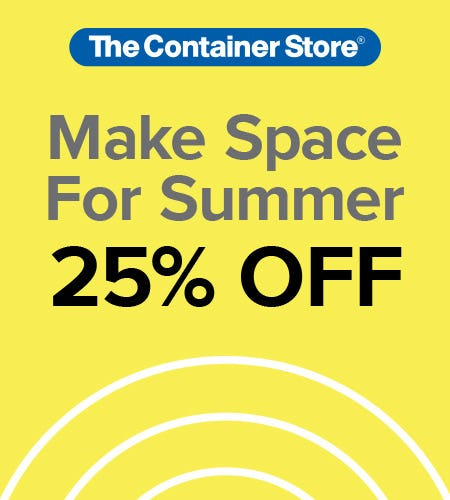 The Container Store Make Space for Summer