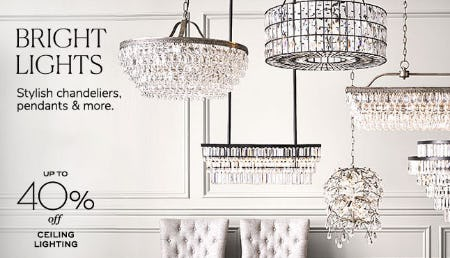Up to 40% Off Ceiling Lighting from Pottery Barn
