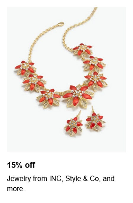 15% Off Jewelry from INC, Style & Co, and More from macy's