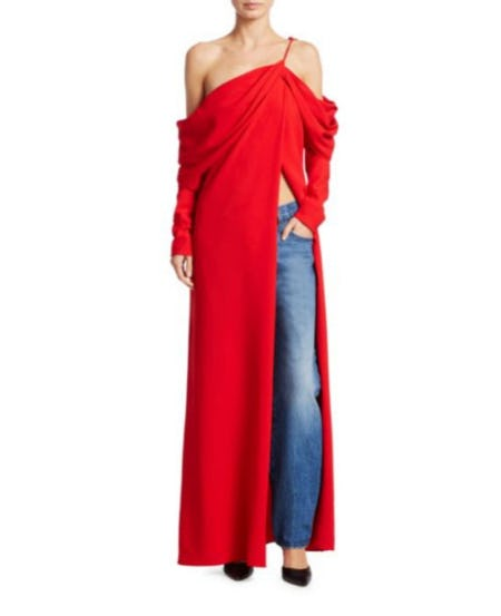 Monse Cowl-Sleeve Silk Gown from Saks Fifth Avenue