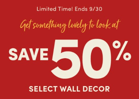 Save 50% on Select Wall Decor from Cost Plus World Market