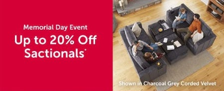Up to 20% Off Sactionals from Lovesac